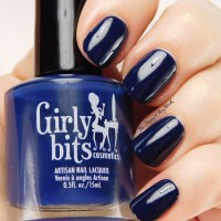 Girly Bits Cosmetics Dreaming Tree, Blue Christmas, + Don't Paddle Break a Nail swatches + review