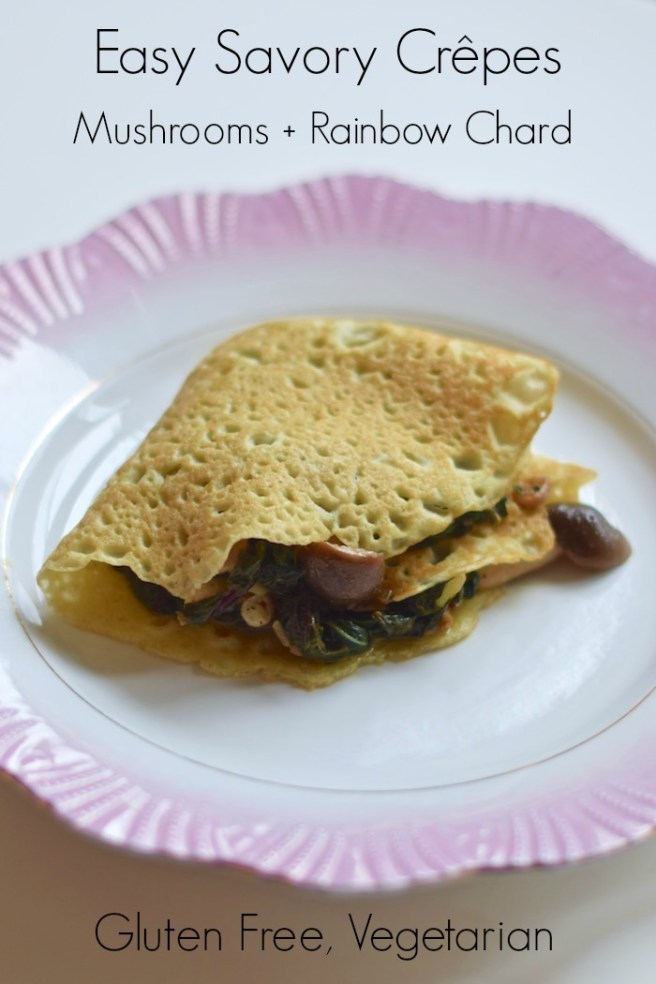These savory crêpes are incredibly delicious and so easy to make! [Gluten Free, Vegetarian, Dairy Free]