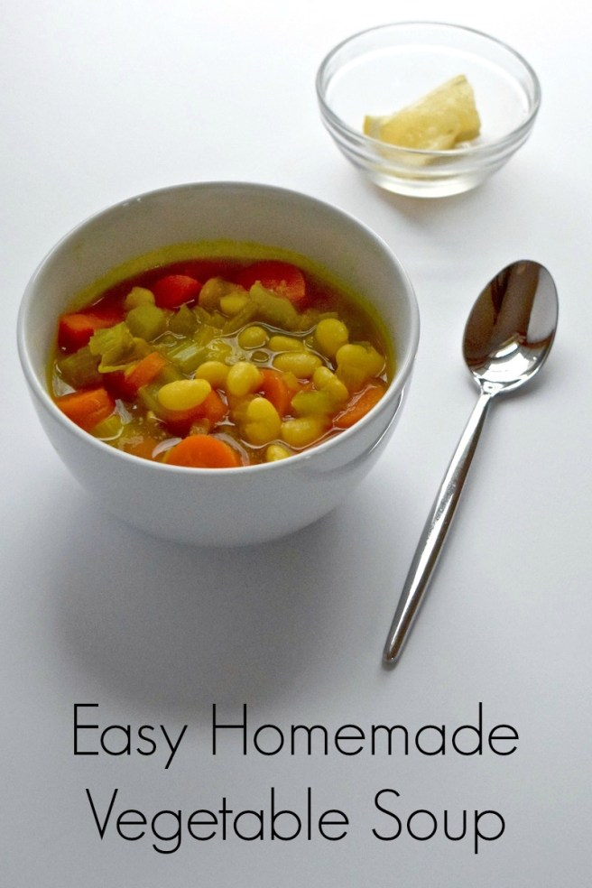 Easy, Healthy Homemade Vegetable Soup Recipe [gluten free, vegan, vegetarian, dairy free]
