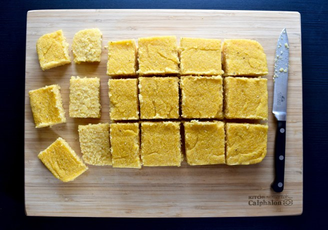 Sriracha Polenta Cakes | These are a perfect appetizer or side dish that is naturally gluten free, dairy free and vegan! Pair with a tasty dip or spread. They're so easy to make and are incredibly flavorful.