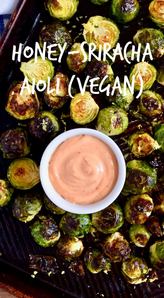 Honey-Sriracha Aioli Recipe - This is good on everything. Really. Put it on sandwiches, vegetables, burgers, chips. All the things. Bonus: it's gluten-free, dairy-free and vegan!