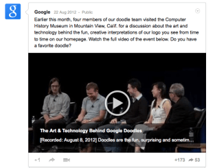 Google Plus Video Post