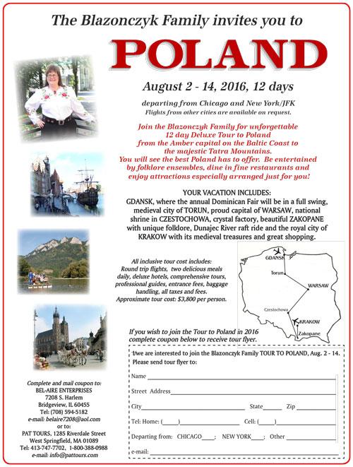 Poland 2016 Tour
