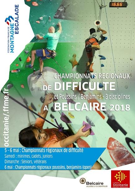 championnats régionaux d'escalade Belcaire 2018