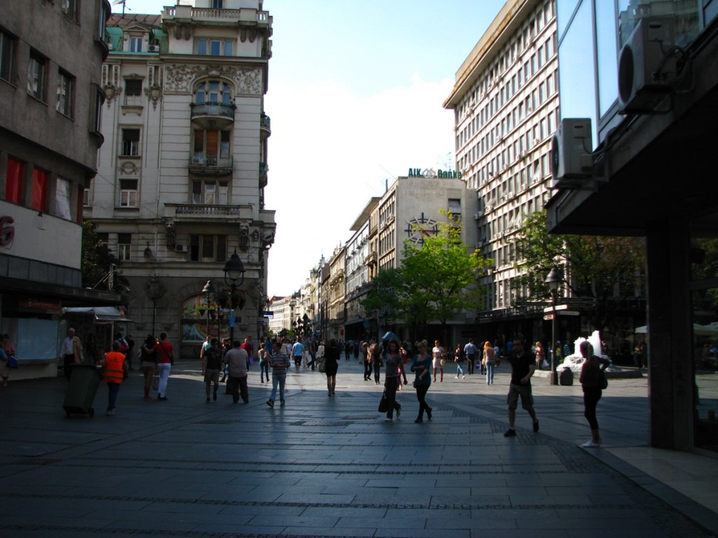 Knez Mihailova street and the Republic square