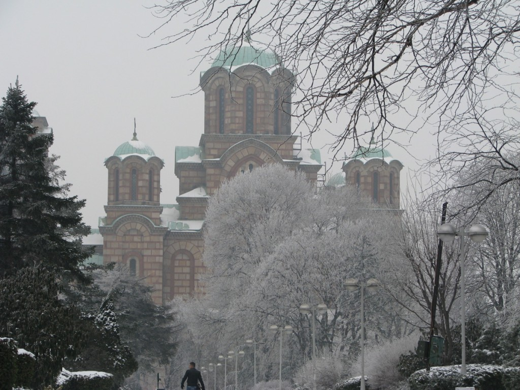 St Marko church in winter