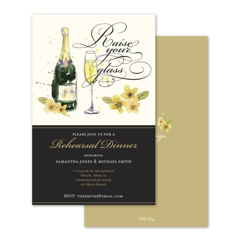 Charming Champagne Toast Personalized Rehearsal Dinner Invitation Champagne Toast Rehearsal Dinner Invitation Bella Bug Rehearsal Dinner Toasts Quotes Rehearsal Dinner Toasts By Far Groom