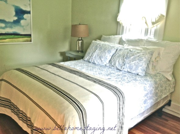 Bella Home Staging coverlet is a tablecloth