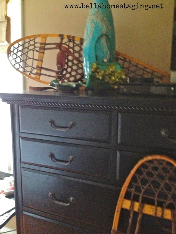 dresser with snow shoe