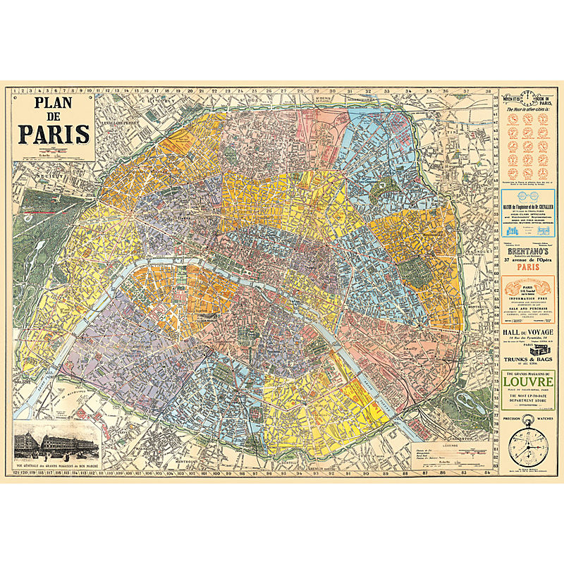 Cavallini & Co Map of Paris