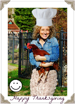 Jen with Chef Hat Chicken Portfolio Pic with Photo Corners Gold 1-13