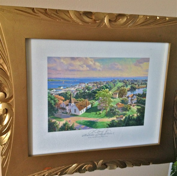 Picture of one my favorite places, Mackinac Island.  Mackinac Island From Above 2, Kathleen Chaney Fritz