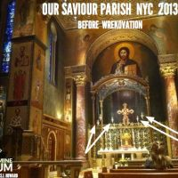 """The Wreckovators say the silliest things... Our Saviour NYC Sanctuary Lamps gone for a year """"for cleaning"""""""
