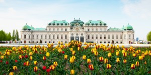 The-Belvedere-palace-Vienna-Austria-in-the-spring