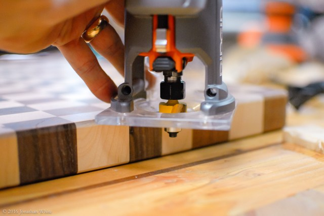 """I used a 3/16"""" round over bit in my trim router to soften all the edges."""
