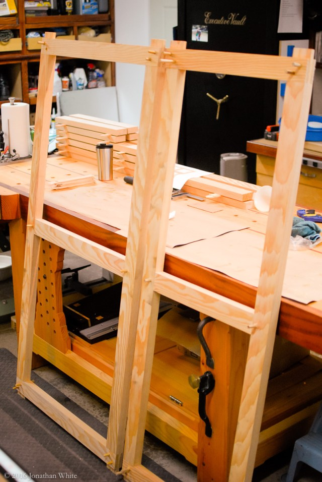 Both frames glued and pegged.