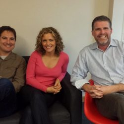L to R: Justin Rubaloff, software engineer; Julia Rudisill, UX designer; Kent Schnepp, Odysys founder and CEO.