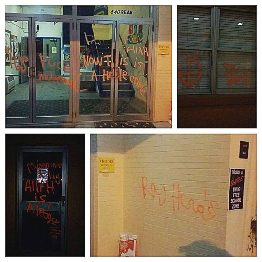 rhode island islamic school vandalized