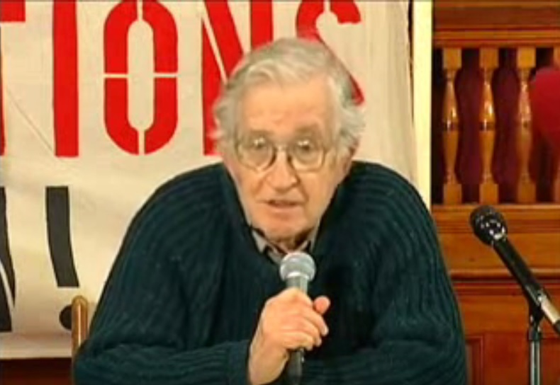 "Chomsky: ""You have human rights to the extent that you serve power"""