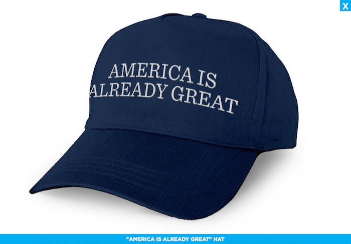 "Democrats' ""America Is Already Great"" hat symbolizes everything wrong with the reactionary party"