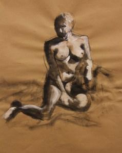Beatrice, 10x12, Jan 2012, tempera paint