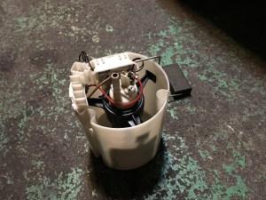 W211のレッカー入庫燃料ポンプ不良