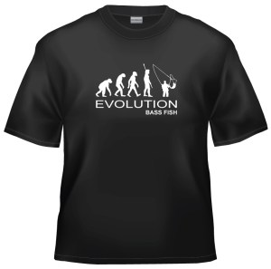 Evolution bass fish t-shirt