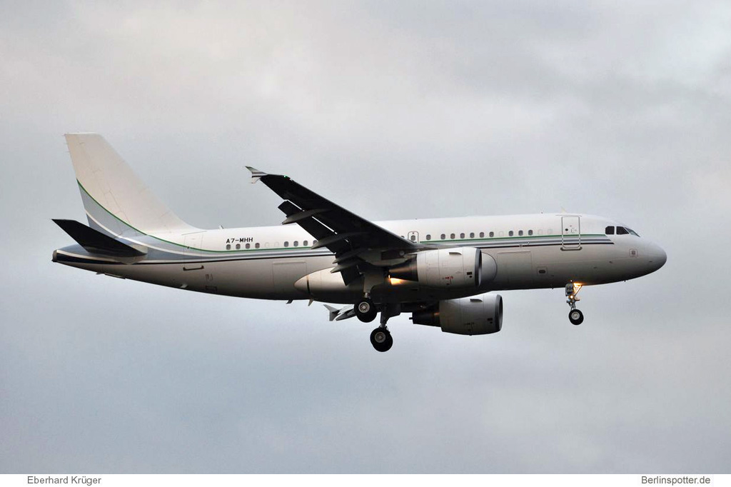 Qatar Amiri Flight Airbus A319CJ A7-MHH