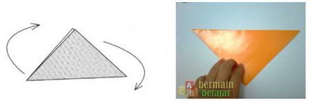 Membuat Origami Anjing b