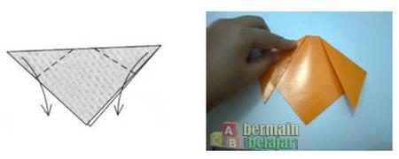Membuat Origami Anjing c