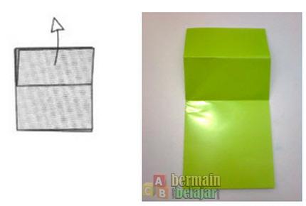 membuat origami kodok d
