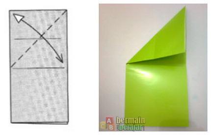 membuat origami kodok e