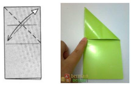 membuat origami kodok f