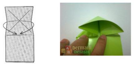 membuat origami kodok g