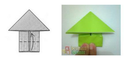 membuat origami kodok j