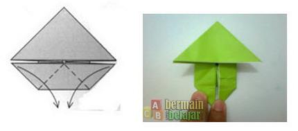 membuat origami kodok m
