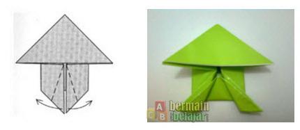 membuat origami kodok n
