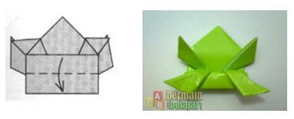 membuat origami kodok q