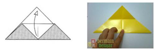 Membuat Origami Kucing e