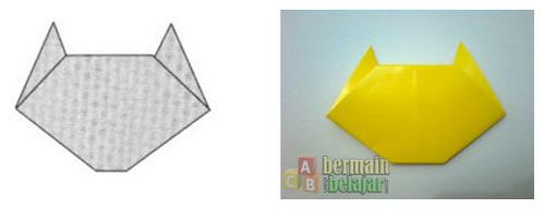 Membuat Origami Kucing i