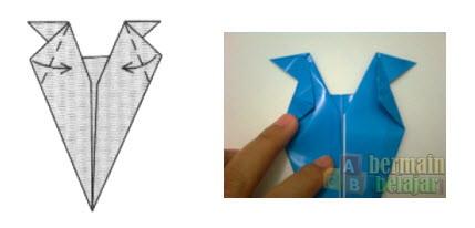 Membuat Origami Berbentuk Kuda f