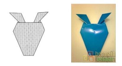 Membuat Origami Berbentuk Kuda h