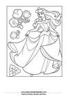 Lembar Mewarnai Putri 09