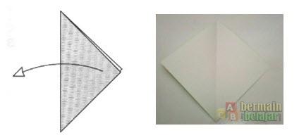 Membuat Origami Batang Bunga b