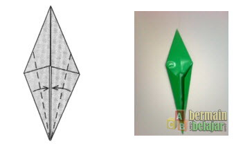 Membuat Origami Batang Bunga e