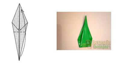 Membuat Origami Batang Bunga f