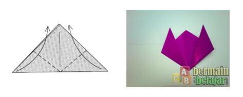 Membuat Origami Bunga Tulip d