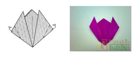 Membuat Origami Bunga Tulip e