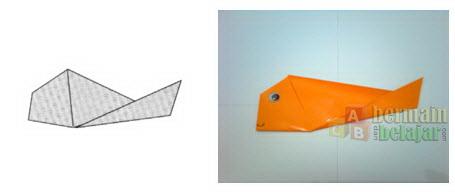 Membuat Origami Ikan g