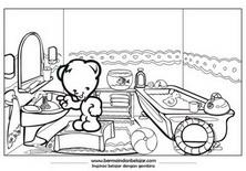 Mewarnai Beruang Lucu 04